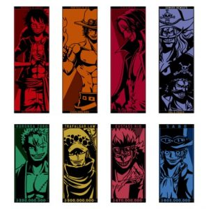 TOWELS LEGENDS OVER TIME ONE PIECE ICHIBAN KUJI FULL SET OF 8 BANDAI LOT H